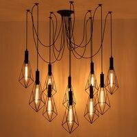 Vintage Spider Hanglampen Armatuur Lamp Loft E27 Industriële Verlichting Retro Loft Opknoping Suspension Armaturen Thuis 110v 220v Hanglampen Licht & verlichting -