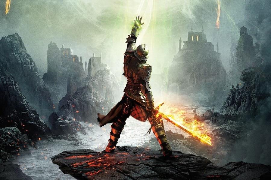 Armas Astrales. Dragon-inquisition-game-warr-font-b-armor-b-font-font-b-sword-b-font-poster-silk