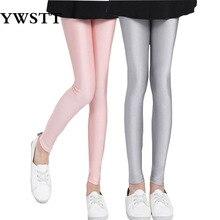 เด็ก 2018 หญิงเลกกิ้ง ChildrenTrousers ฤดูใบไม้ผลิฤดูใบไม้ร่วงเงากางเกงเลกกิ้งสาว pants 4 6 8 10 12 สาวเต้นรำกางเกง
