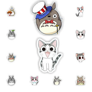 Lovely Cartoon Acrylic Totoro Brooch Clothes Icon Backpack Accessories Badges Decoration Cheese cat Brooches Pin For Women