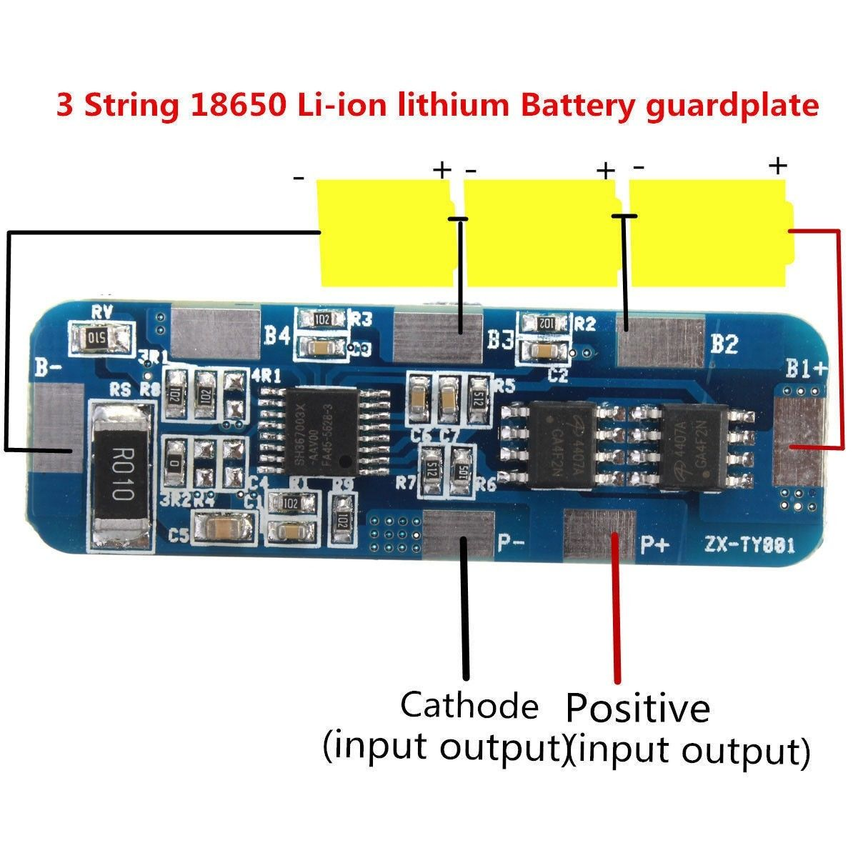 Circuit Charging Li-ion Lithium Battery 3S 10A Charger Protection Board 18650