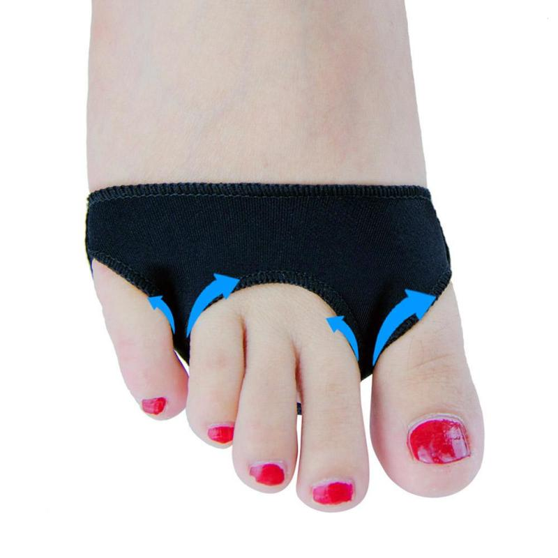 1 Pair Sumifun Thumb Separator Foot Care Tools High Heel Hurt Toes Care Relieve Bunion Pain 3 Holes Half Gel Shoe Pads Z4