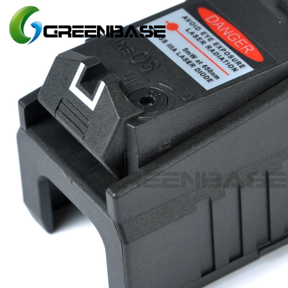 Greenbase Tactical Red Dot laser Sight Scope for Airsoft KWA KSC Glock 17 22 23 25 27 28 43 Pistol Iron Rear Sight-4