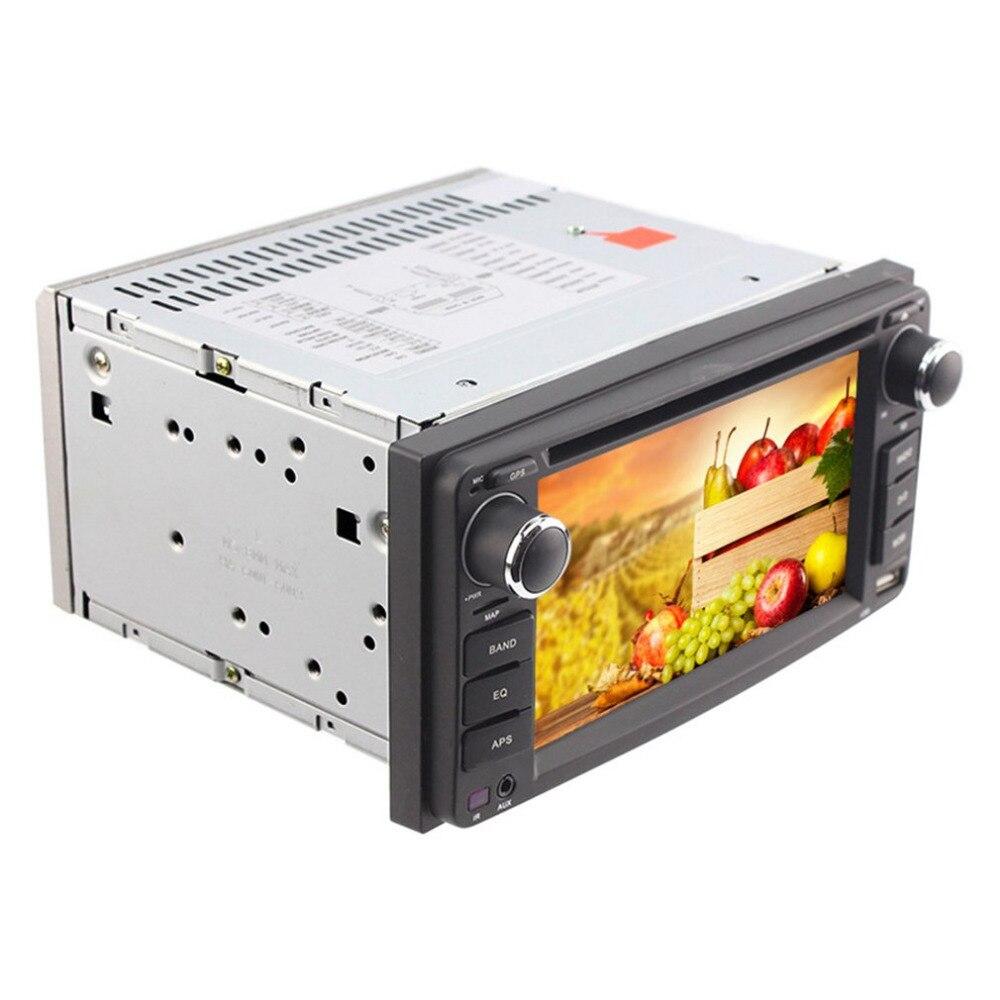 6.2 дюймов Универсальный двойной DIN в тире цифровых медиа DVD автомобиля Дисплей 7 цветов и пуговицы светодиодный свет настройки для Toyota