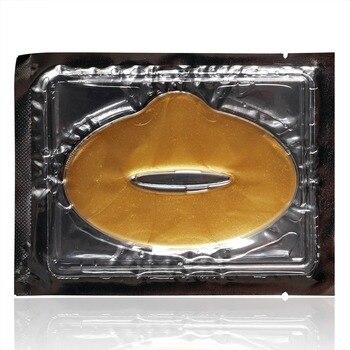 DHL Wholesale Gold Crystal Collagen Gel Lip Mask Sheet Moisturizing Plump Anti Aging Anti Wrinkles Exfoliating Lip Film Patch