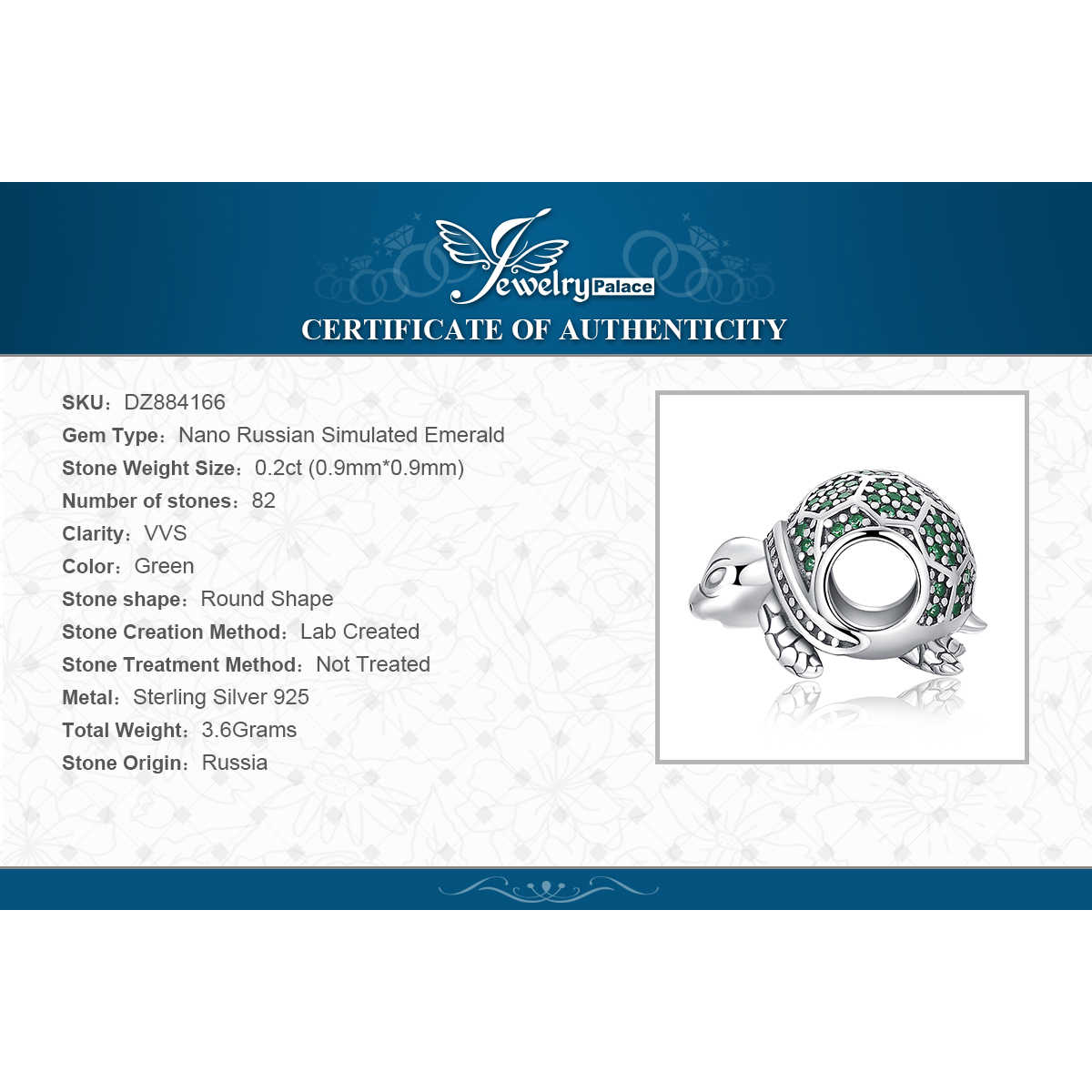 JewelryPalace Schildkröte 925 Sterling Silber Perlen Charms Silber 925 Original Für Armband Silber 925 original Perlen Schmuck Machen