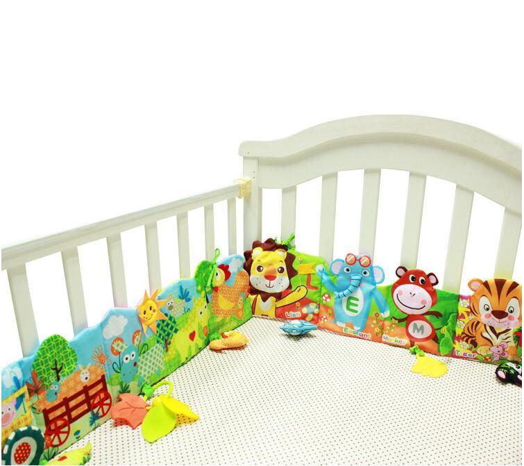 Bébé En Peluche Jouets Volants Ferme lion girafe Multi-tactile Tissu Décoratif Coloré lit À Volants Jouets Éducatifs 20% Off