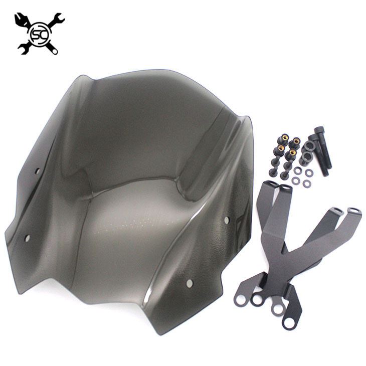 Motorcycle Sports Windshield WindScreen Visor Viser Fits For BMW G310R 2016 2017 G310 R 16'-17' Double Bubble for bmw g310r 2017 on motorcycle windshield windscreen with mounting bracket high quality abs plastic