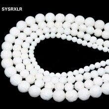 Wholesale Natural White Lotus Carving Tridacna Shell Stone Buddha Prayer 6 8 10 12 14 MM Beads For Jewelry Making DIY Bracelet