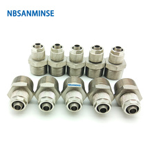 10Pcs/lot BC Push On Fitting Pipe Connection Tube Connector Sanmin