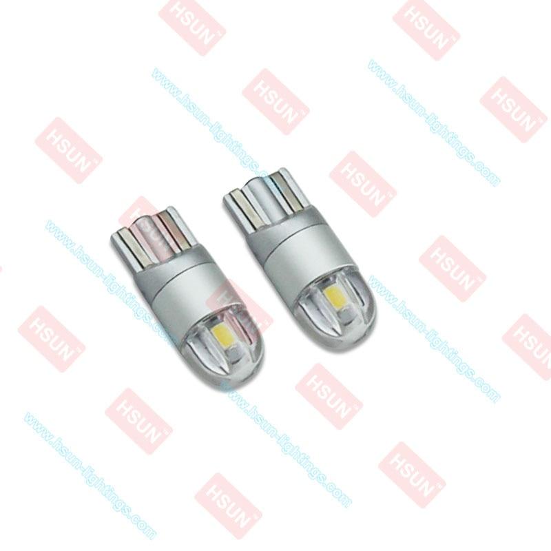 2pcs T10 2SMD 3030 W5W LED Canbus Error Pulsuz Avtomatik Təmizləmə - Avtomobil işıqları - Fotoqrafiya 2
