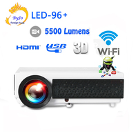 Poner Saund LED96+ wifi LED Android 3D Projector Gift 10m HDMI or SD Multi screen Home theater projector Vs bt96 led96 Projetor