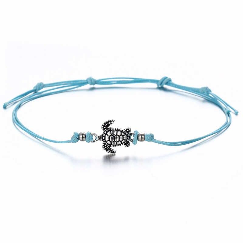 NAPOLN ножной браслет пляжный ножной браслет многослойный винтажный Богемский Браслет на лодыжку браслет для женщин Бохо морской ножной браслет с черепахой пляжные украшения