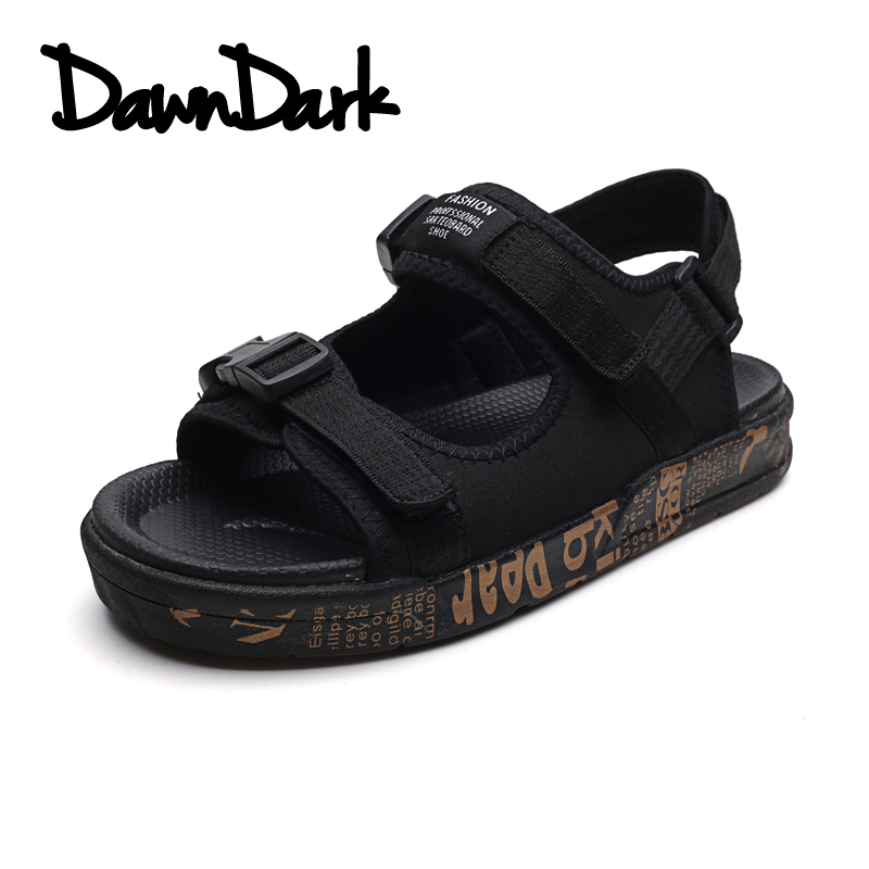 Men Sandals Spring Summer Male Canvas Solid Hook & Loop Handmade Sandals Brand Man Outdoor Beach Shoes Zapatos Hombre
