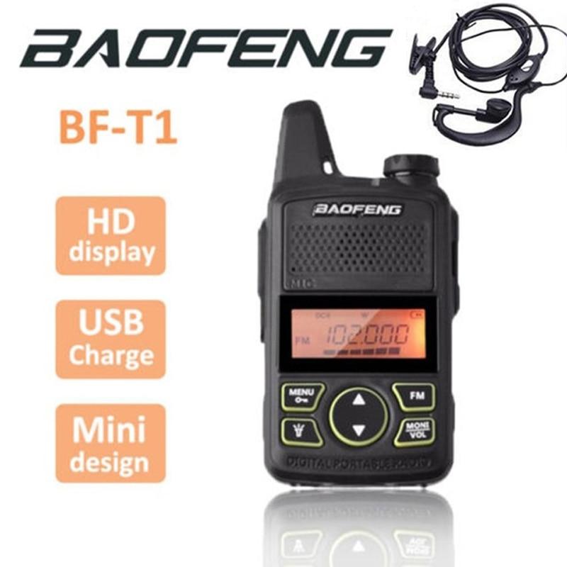 Baofeng BF-T1 BF T1 Wakie Mini Walkie Talkie CB Ham UHF Radio Station Transceiver Boafeng PMR 446 PMR446 Scanner Woki Toki Handy