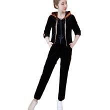 New Leisure Korean Fashion Pleuche Suits Spring Autumn Hooded Fleece Clothing Set 2 Pcs Hoodies Pants Women Casual Outfit XL-5XL