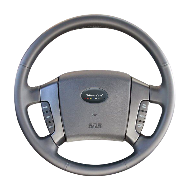 First layer leather Car Steering Wheel Cover for 2003 2004 2005 2006 2007 2008 2009 Kia Sorento braid on the steering wheel