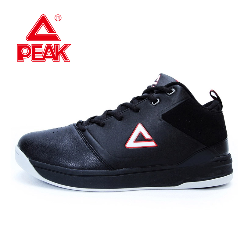 ФОТО PEAK SPORTS Men Breathable Basketball Shoes Leather Authentic Sport Shoes E24091A Free Shipping