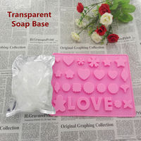 Handmade DIY Soap Set White Transparent Soap Base 250g And Silicone Mold Soap Material Base Wedding