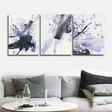 Ink purple Abstract Wall Pictures Poster Print Canvas Painting Calligraphy Decor for Living Room Bedroom Home Frameless