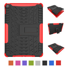 Case For iPad Air 1/iPad 5 9.7 inch Shockproof Armor Tire Style Hard PC With Silicone Tablets Books Case Cover Coque Shell(China)