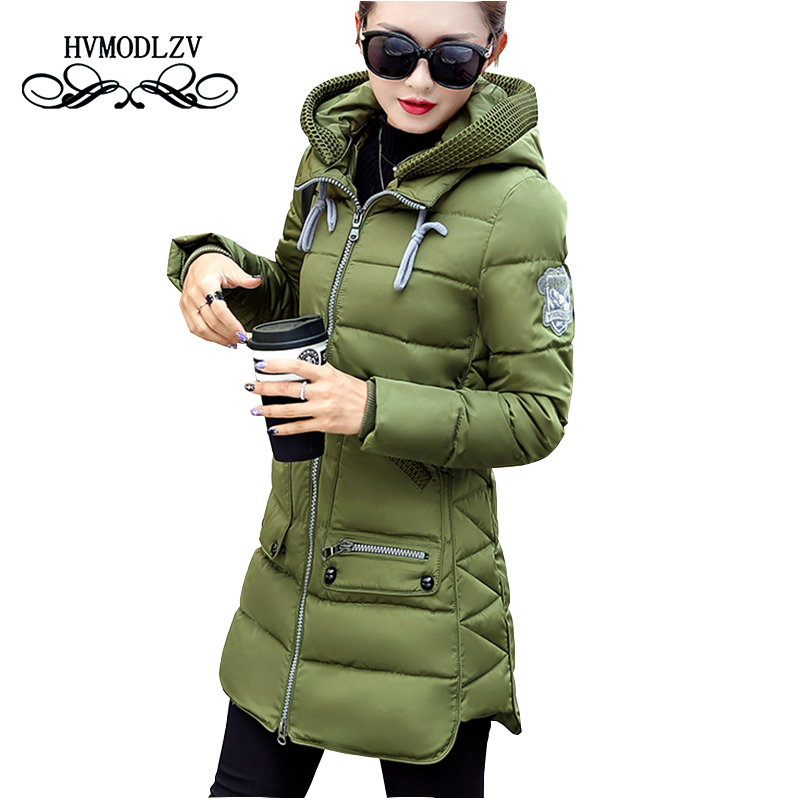 Winter Jacket Coat Women 2017 New Hot Style Hooded Slim Medium Long Plus Size Down cotton Parkas Lady Top female Coats 7XL lj540 winter jackets coats new down cotton jacket women parkas thicken hooded outerwear slim large size medium long female coat k616