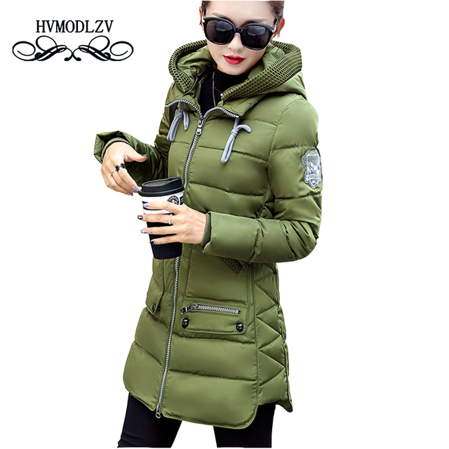 Winter Jacket Coat Women 2017 New Hot Style Hooded Slim Medium Long Plus Size Down cotton Parkas Lady Top female Coats 7XL lj540