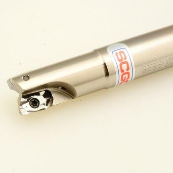 Фреза для высококачественного алюминиевого сплава, фреза SCGO AE360S + 5 твердосплавных вставок, индексируемая Концевая фреза, фреза