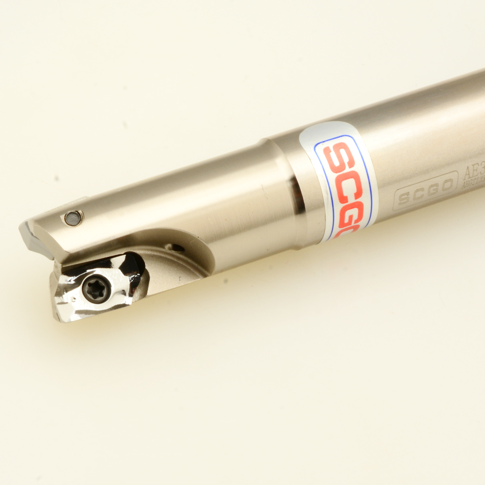 For aluminium alloy high feedrate milling SCGO AE360S cutter + 5 carbide inserts indexable end mill milling cutter цена