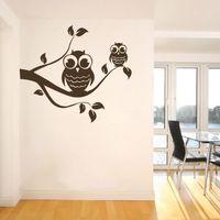 Животное стена декор Bird стена наклейки пвх наклейки сова дизайн поддержка 01