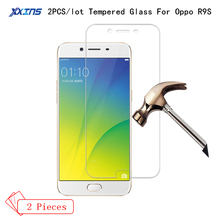 2PCS discount High definition Tempered Glass For OPPO R9S Screen Protect smartphone UltrathinToughened Protective Film цена