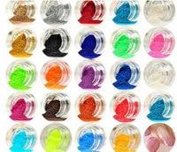 24 Different Colors Nail Glitter Powder Dust 3D Nail Art Decoration Acrylic UV Gem Polish Nail