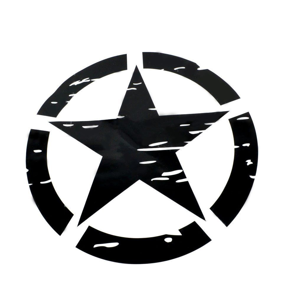 Bbqfuka 2pcs new pair 41x41cm black us army military star car bbqfuka 2pcs new pair 41x41cm black us army military star car truck film sticker decal fit for jeep car styling accessories in car stickers from buycottarizona