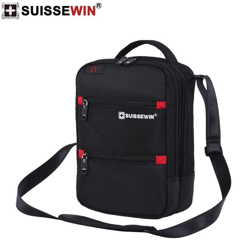 Image 2 - 2019 Swiss Fashion Shoulder Bag Men Mini Handbag Black Crossbody For Ipad Casual Oxford Messenger Satchel Music Bag Women