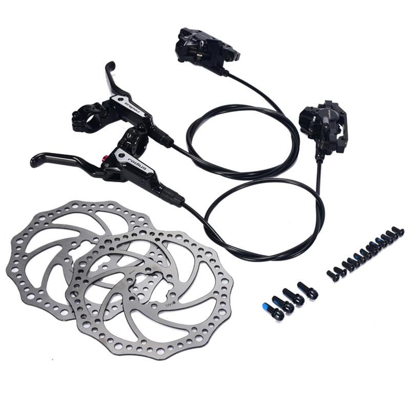 Bike Hydraulic MTB Mountain Bike Bicycle Disc Brake Set Front And Rear Calipers Levers Bicycle Part