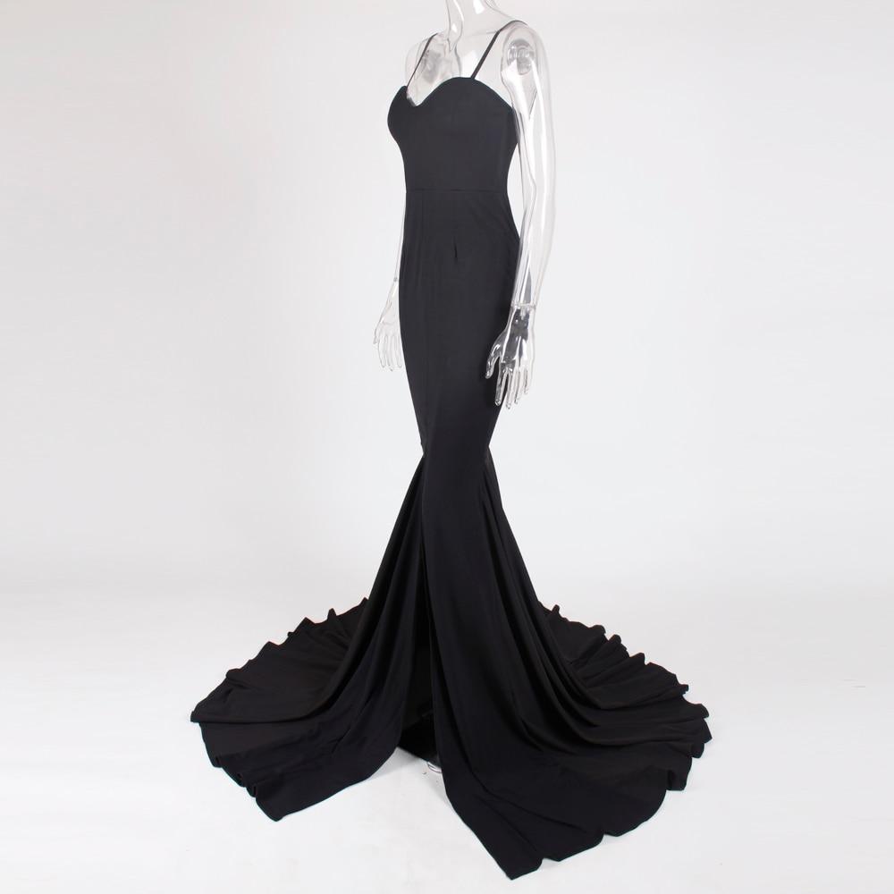 Strapless Split Front  Mermaid Sleeveless Elegant Dress 25
