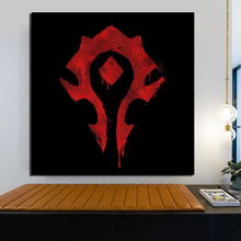 цена на Game Wallpaper Art  Horde Logo  Wall Art Canvas Painting Poster Prints Modern Painting Wall Pictures For Living Room Home Decor