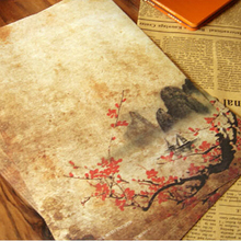 Ретро 8 штук в партии, винтажная романтическая бумага с буквенным принтом, элегантная, любовная, античный цвет, бумага для письма с буквами, 732