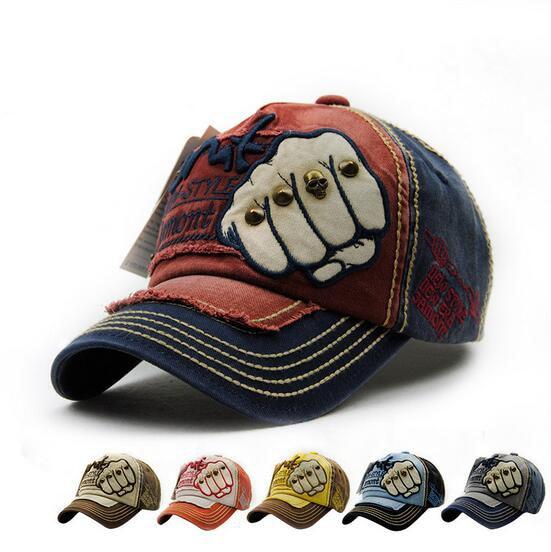 Fashion The Fist Outdoor font b Cap b font Adjustable Cotton Hat Snapback Rivets Gorras Hip