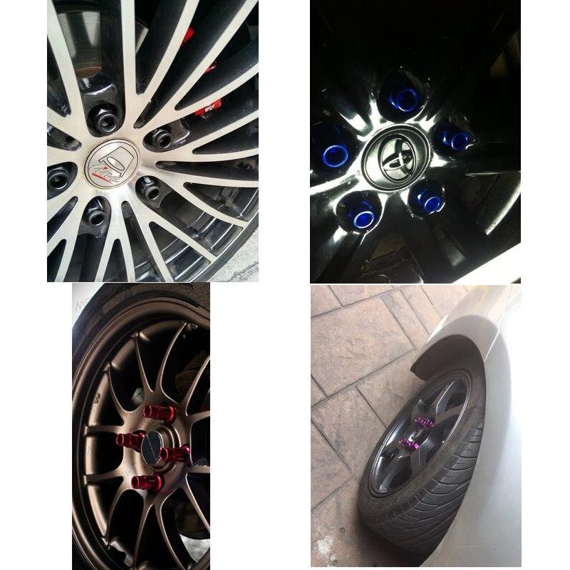 M12x1.25 - 20 Pcs/pack Alloy Aluminum Universal Racing Wheel Lug Nuts Screw for Nissa Subar 50mm RS-LN007