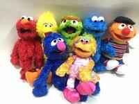 7 tipos de 30-40 cm Sesame Street Elmo Figuras de Coleta de Brinquedos de Pelúcia Macia Stuffed Boneca Crianças Bonecas Presentes de Aniversário T213