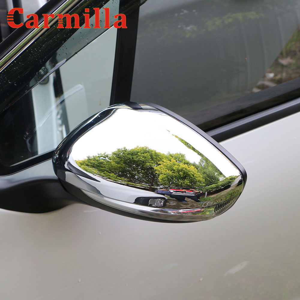 Carmilla Car Chrome Rearview Mirror Protection Cover Rear View Mirror Sticker for <font><b>Peugeot</b></font> 2008 <font><b>208</b></font> 2014 2015 2016 <font><b>2017</b></font> Parts image