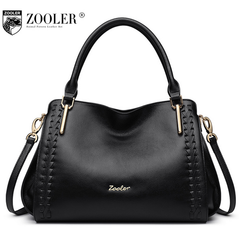 ZOOLER Brand 100% Genuine Leather Bags Handbags Women Famous Brands Designers Tote Work Bag Casual Soild Shoulder Bag Bolsas luxury famous brand women female ladies casual bags leather hello kitty handbags shoulder tote bag bolsas femininas couro