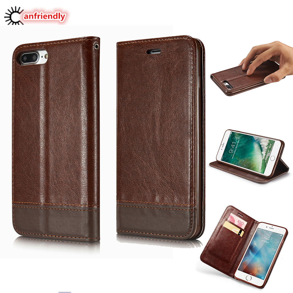 Untuk iphone 6 6 s 7 ditambah 5 5 s case mewah magnetic dompet kulit - Aksesori dan suku cadang ponsel - Foto 1