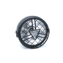 Motorcycle Head Lamp Lampshade Grill Cover Retro Vintage Bracket Mask Mount Headlight for Harley Cafe Racer Bobber