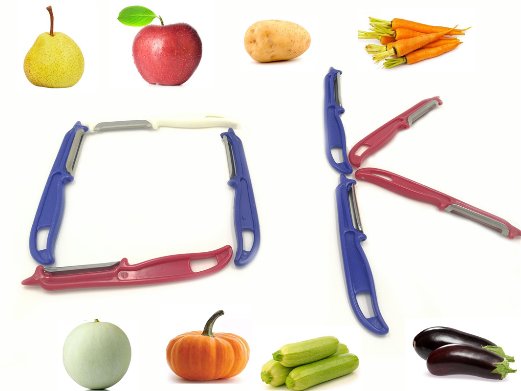 1 PCS Double Sided Blades Cabbage Graters Fruit And Vegetable Peeler Kitchen Craft  For Cocktail Peelers & Slicers
