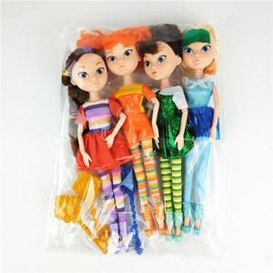 Image 2 - 4 יח\סט רוסית Cartoon Kawaii פיות פנטזיה סיירת אופנה יוניסקס בובת פלסטיק DIY בד דגם צעצועי חג מולד מתנה עבור בנות