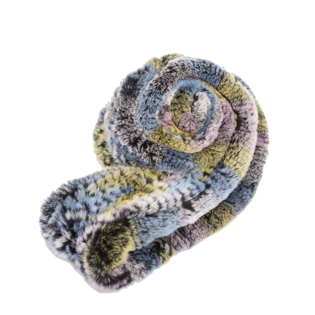 Mix Color Fur Infinity Scarf | Winter Scarves | Up to 60% Off Now