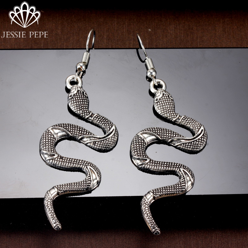 2019 New Arrival Vintage Snake Drop Earrings Brincos Fashion Earrings Anti Allergy Best Quality Don't Lose Color #GY4693