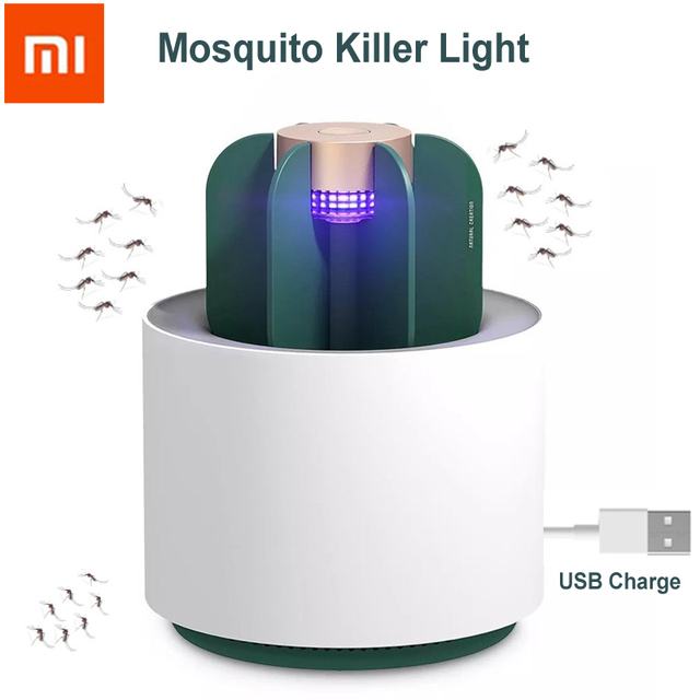 Xiaomi Sothing Cactus Mosquito Insect Killer Lamp Eletric UV Light Smokeless Odorless Mosquito Repellent Trap